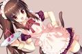 Картинка музыка, аниме, арт, девочка, нота, неко, ушки, хвостик, Natsume Rin