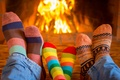 Картинка family, socks, happy, семья, cute, носки, fire, камин