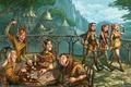 Картинка Эльфы, город, играют