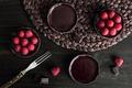 Картинка ягоды, малина, шоколад, пирожное, вилка, Chocolate Raspberry Tart