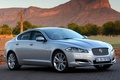 Картинка Jaguar, xf, ягуар, иксэф, седан, серебристый.передок, скала