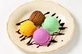 Картинка холод, шоколад, тарелка, мороженое, десерт, сладкое, вкусно, sweets, ice cream, фруктовое
