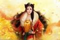 Картинка девушка, украшения, волосы, арт, коса, азиатка, ruoxing zhang