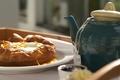 Картинка Еда, Завтрак, Чай, Чайник, Булочка, Плюшка