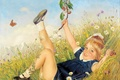 Картинка лето, девочка, Anton Filkuka