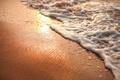 Картинка пляж, пена, песок