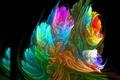 Картинка пламя, цвет, перья, свет, линии, обои