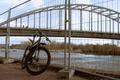 Картинка дорога, мост, велосипед