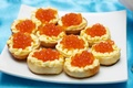 Картинка бутерброды, закуска, seafoods, масло, икра, caviar