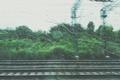 Картинка окно, дорога, движение, дождь, купе, железная, поезд, капли