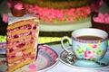 Картинка десерт, чай, торт