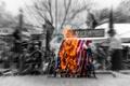 Картинка флаги, дым, сша, огонь