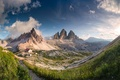 Картинка горы, природа, дома, долина, панорама