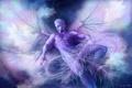 Картинка феи, фэнтези, крылья, арт, парень