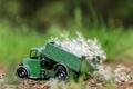 Картинка природа, одуванчики, игрушка, грузовик