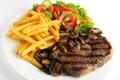 Картинка мясо, салат, грибы, еда, картофель