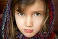 Картинка глаза, лицо, портрет, девочка, платок