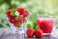 Картинка Juice, сок, Strawberry, клубника, цветок, ягода