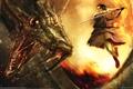 Картинка Ryohei hase, змей, воин, битва