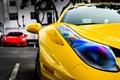 Картинка желтый, красный, Ferrari, red, феррари, 458, italia, f430, yellow, италия, ф430