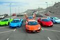 Картинка суперкары, Lamborghini, парковка, Aventador, Huracan, Gallardo