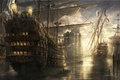Картинка море, корабли, замок