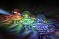 Картинка шары, стекло, спектр