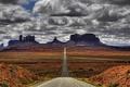 Картинка Дорога, пустыня, горы