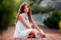 Картинка девочка, wavy hair, платье, child photography, In the Quiet