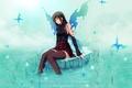 Картинка Девушка, крылья, бабочки, настроение, вода