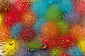 Картинка шарики, стекло, разноцветные, drops, вода, colorful, water, rain, rainbow, glass, капли