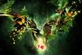 Картинка Листья, коллаж, бабочки, вишня