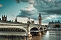 Картинка Thames, River, westminster bridge, London, Англия, Лондон, Big Ben, England