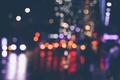 Картинка боке, улица, огни