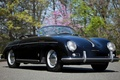 Картинка фон, Pre-A, Speedster, by Reutter, родстер, Порше, 356, чёрный, передок, Porsche, 1955, классика