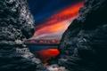 Картинка скалы, ночь, природа