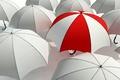 Картинка зонтики, белые, полосатый