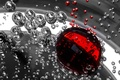 Картинка Пузыри, жидкость, красный