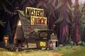 Картинка лес, Gravity Falls, Хижина чудес