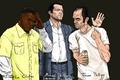 Картинка Майкл, Trevor Phillips, Grand Theft Auto V, Franklin Clinton, Michael De Santa, GTA 5, Тревор, ...