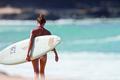 Картинка доска, блондинка, спорт, пляж, девушка, surfing, океан, серфинг