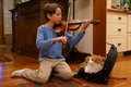 Картинка кошка, настроение, музыка, друг, Маламут, скрипка