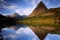 Картинка Озеро, горы, деревья, отражение