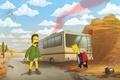 Картинка Breaking Bad, The Simpsons, Ned Flanders, Bart Simpson