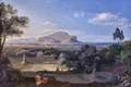 Картинка Munich, 1832, Munich Neue Pinakothek, Palermo with Mount Pellegrino, Карл Антон Йозеф Ротман, Carl Anton ...