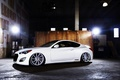 Картинка wheels, 3.8, Genesis, side, vossen, Hyundai, white