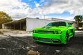 Картинка Dodge, SRT8, Challenger, Green, Front, Tuning, Rider, Chall