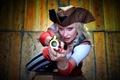 Картинка взгляд, пистоль, девушка, пират