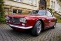 Картинка Maserati, здание, купе, брусчатка, ступеньки, auto, coupe, мазерати, 5000