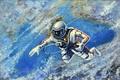 Картинка космос, космонавт, 1973, Алексей Леонов